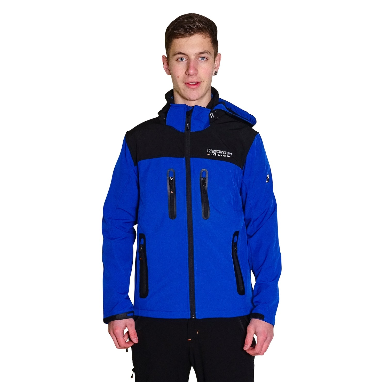 DEPROC Softshelljacke Herren BLACK RIDGE Men blue front Model