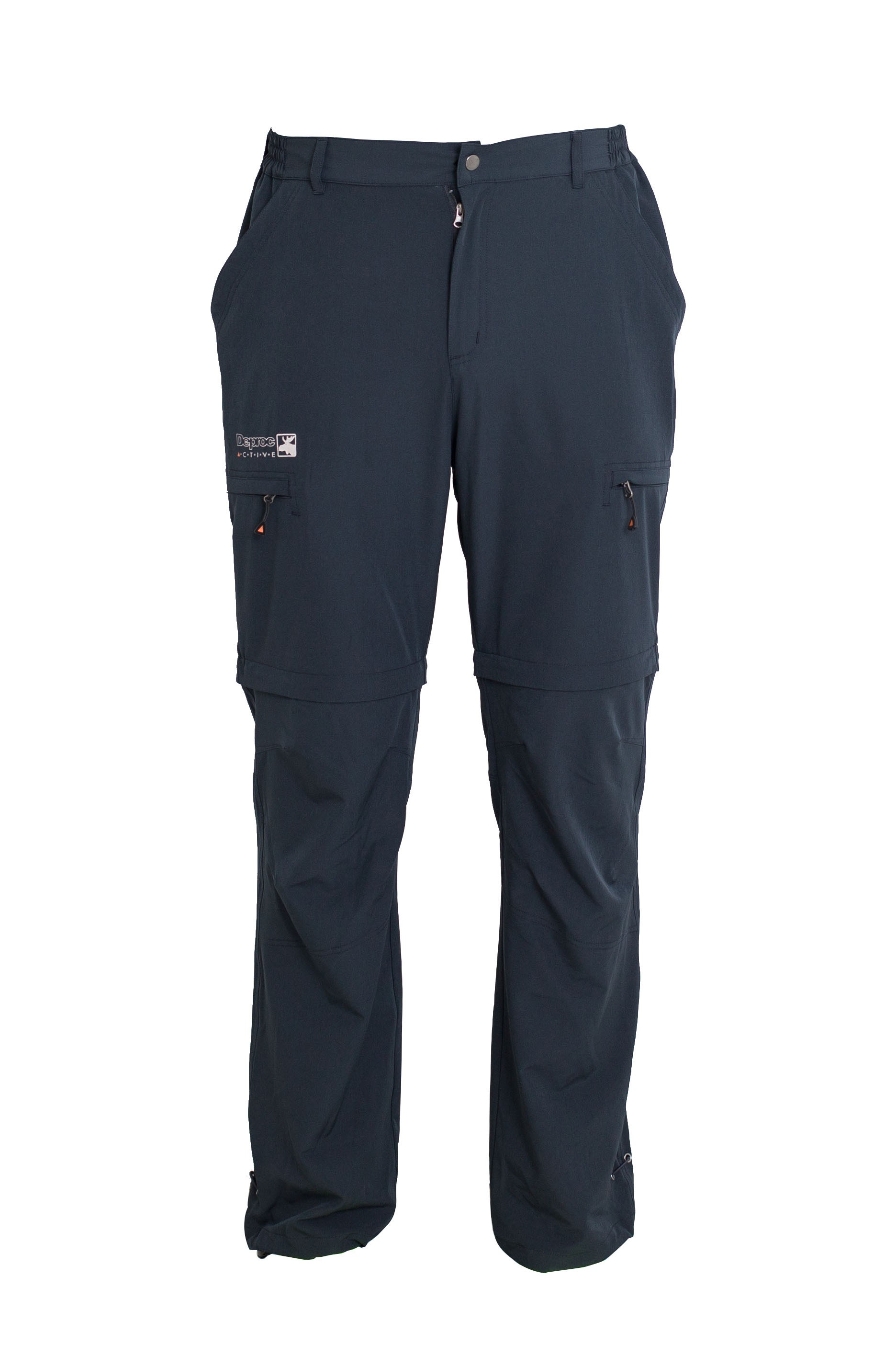 Zip-off Trekkinghose, Outdoorhose & Wanderhose Herren DEPROC KENTVILLE Zipp-Off 4-Wege-Stretch anthra